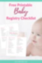 Free Printable Baby Registry Checklist P