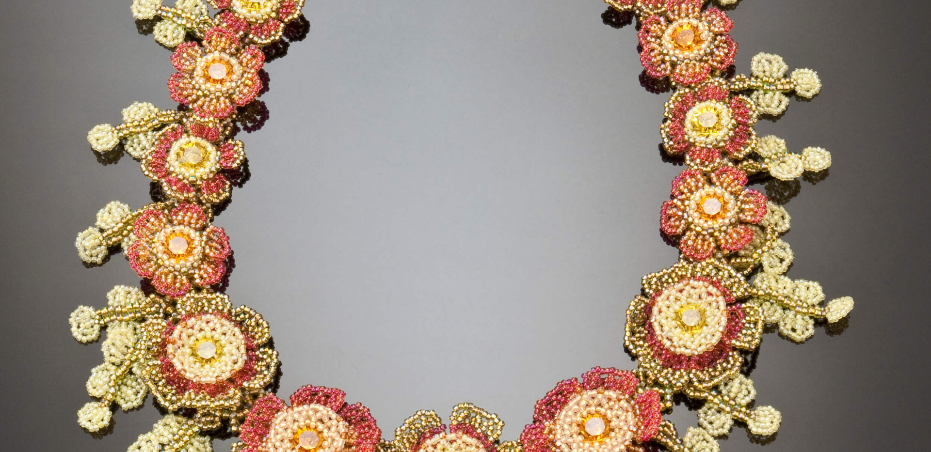Flowers of The Field Necklace in Lime and Topaz