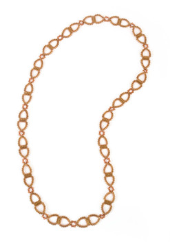 Dew Drops Links Necklace in Bronze