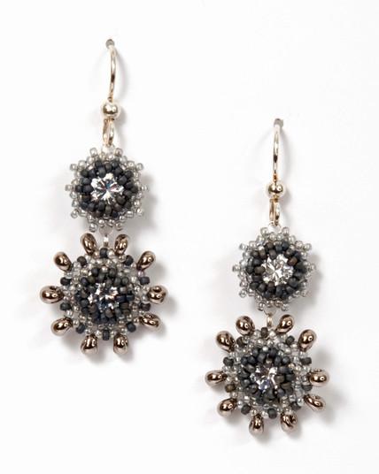 Swinging Starlets Earrings Black & Silver