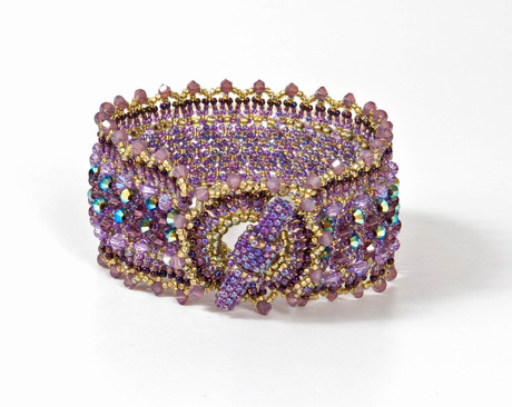 Serrated Cuff in Amethyst and Olive