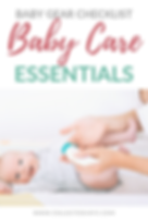 Baby Gear Checklist Baby Care Essentials