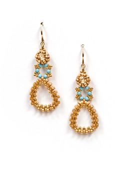 Dew Drops Earrings in Gold