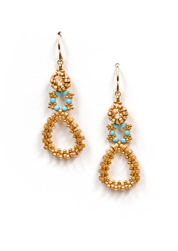 Dew Drops Earrings in Gold
