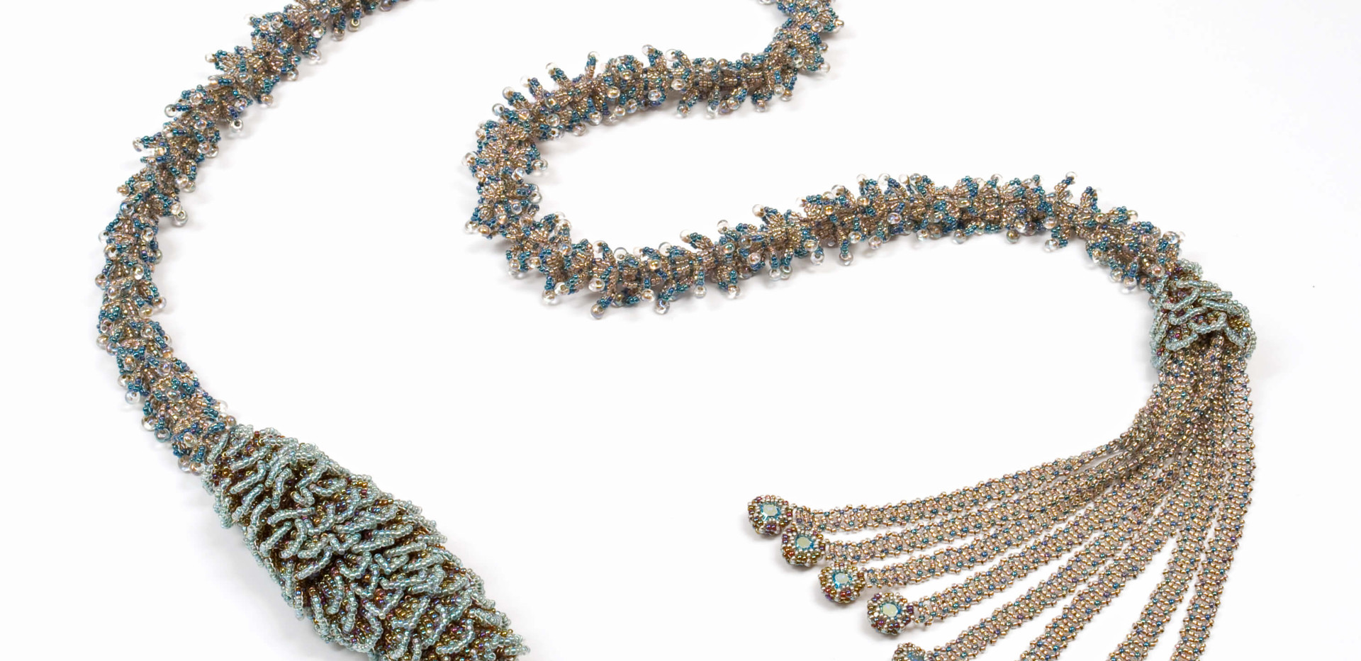 Pining Over You Lariat in Teal and Champagne