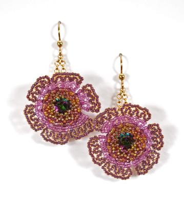 Wildflowers Earrings in Vitrail Medium