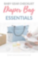 Baby Gear Checklist Diaper Bag Essential
