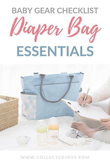 Baby Gear Checklist Diaper Bag Essential