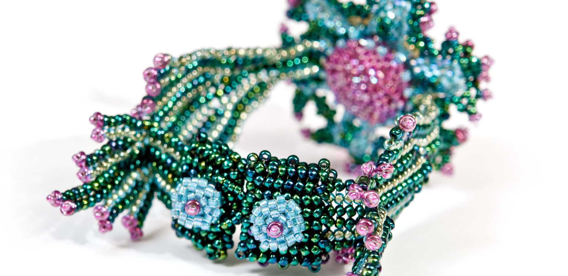 Starburst in Turquoise & Fuchsia