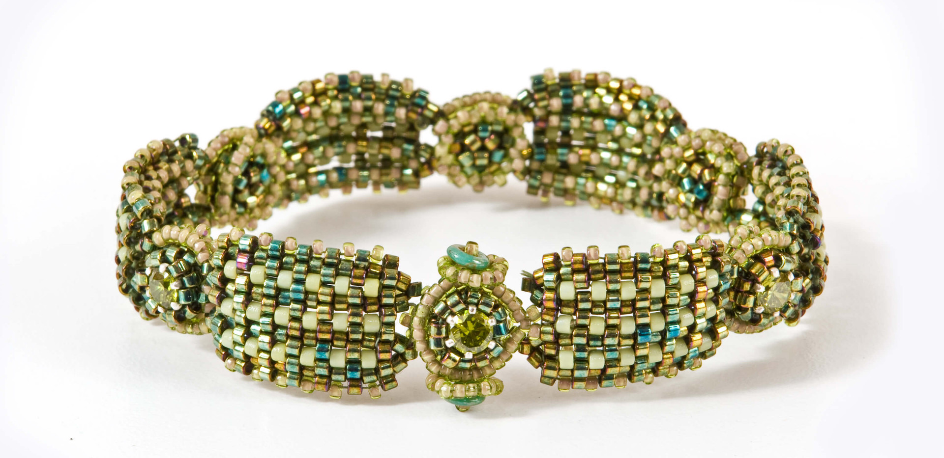Ribbed Cuff in Metallic Olivine