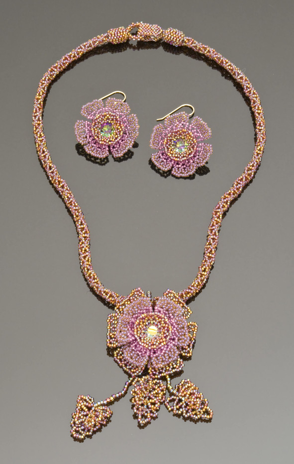 Wildflowers Set in Indian Pink
