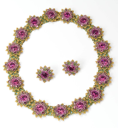 Flower Motif in Amethyst