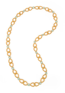 Dew Drops Links Necklace in Gold