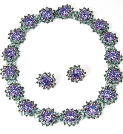 Flower Motif in Tanzanite