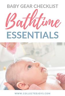 Baby Gear Checklist Bathtime Essentials.