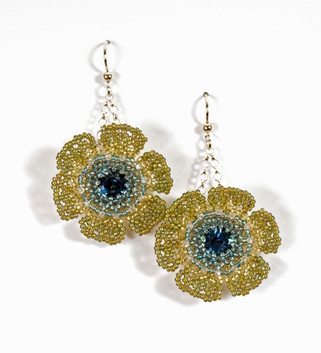 Wildflowers Earrings in Sahara