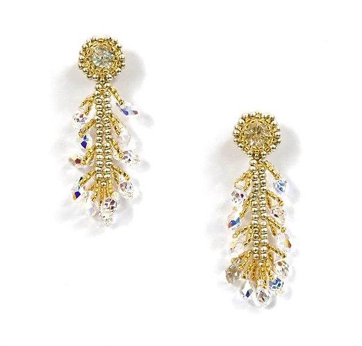 Crystal Plume Earrings
