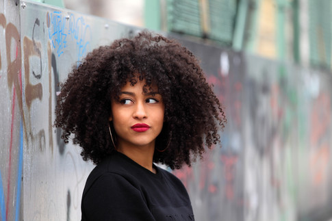 Young Girl with Afro