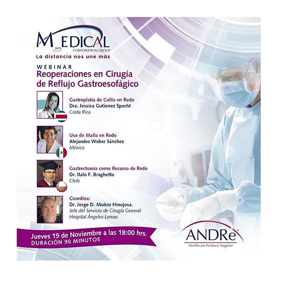 Reoperaciones en Cirugía de Reflujo Gastroesofágico