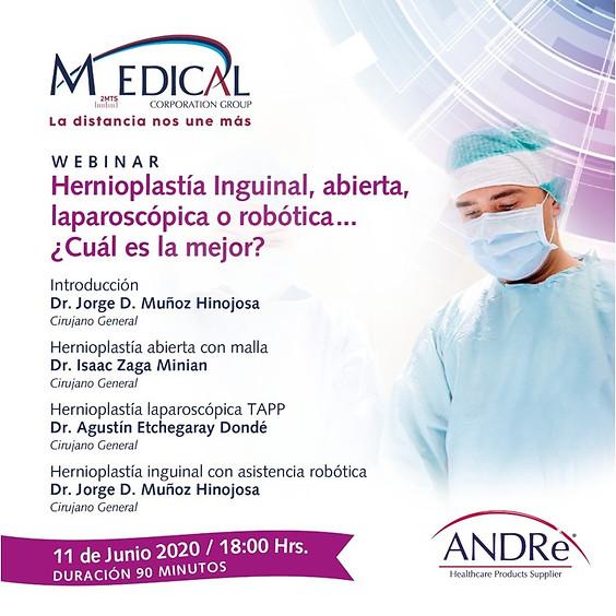 Hernioplastía Inguinal, abierta, laparoscópica o robótica. ¿Cuál es mejor?