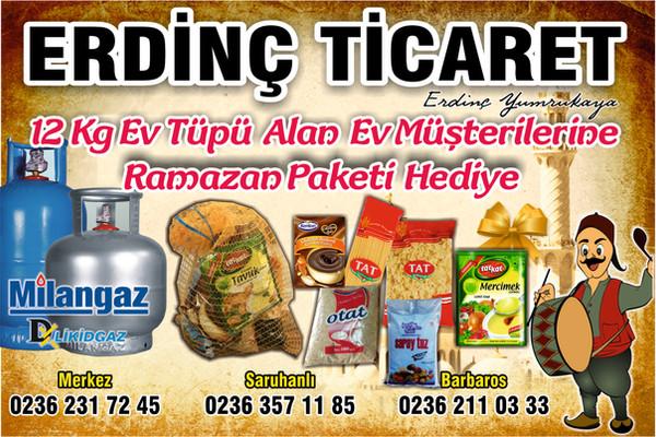 KAMPANYA SONA ERMİŞTİR - Ev Tüpüne Ramazan Paketi Hediye!