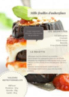 Recette régime aubergine