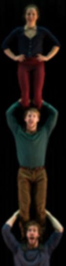 TrioPourquoiPas, colonne-à-trois, cirque, 3-man-high, Marco Gorges, Lisa Barrett, Davi Aubé