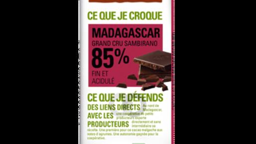 ETHIQUALE %85 TXOKOLATEA  MADAGASKAR. CHOCOLATE ETHIQUABLE 85 % MADAGASCAR