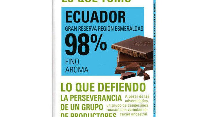 ETHIQUALE %98  TXOKOLATEA EKUADOR. CHOCOLATE ETHIQUABLE 98% ECUADOR
