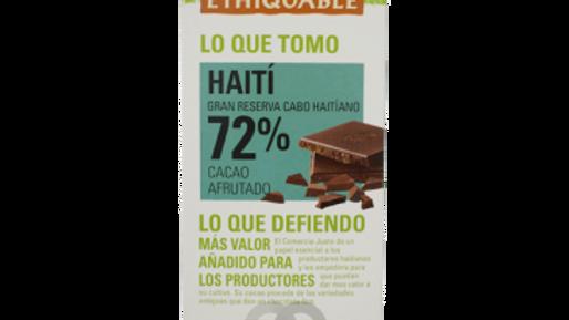 ETHIQUALE  %72 TXOKOLATEA  HAITI. CHOCOLATE ETHIQUABLE 72% HAITI