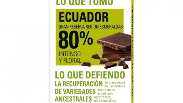 ETHIQUALE  %80  TXOKOLATEA EKUADOR. CHOCOLATE ETHIQUABLE  80% ECUADOR