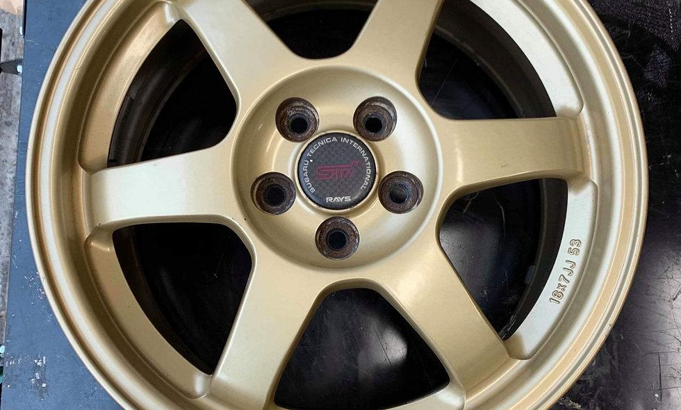 Subaru Sti oem Rays TE37's