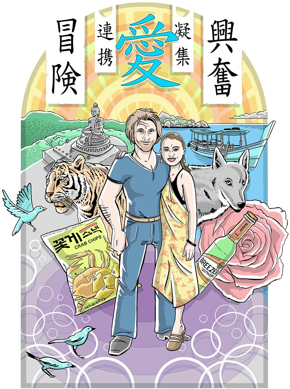 "Poster ""Asien"""