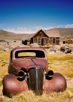 One of Bodie's abandoned cars