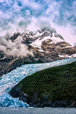 The edge of Spegazzini Glacier on Lake A