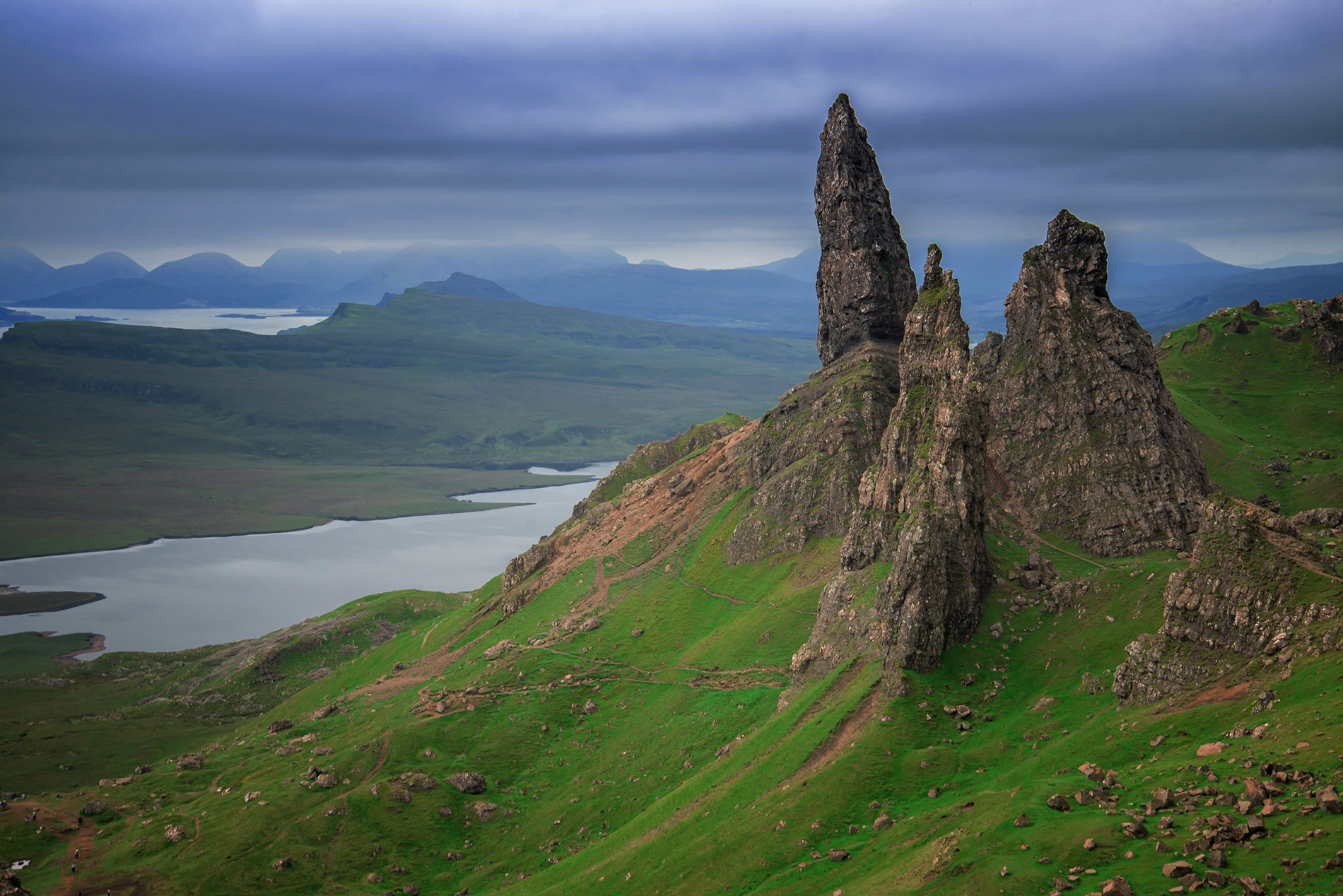 A view of Old Man of Storr