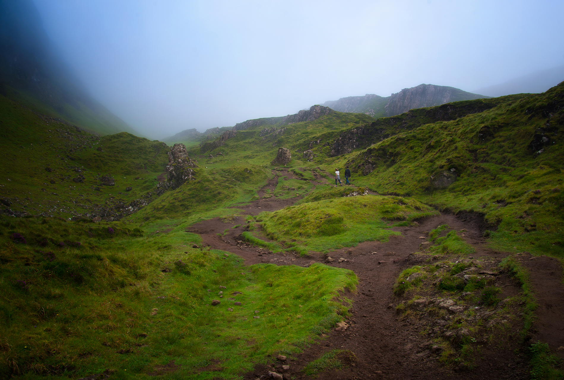 Misty trails of Quiraing