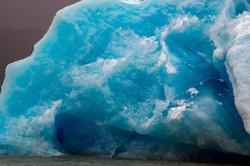 Blue iceberg, up close