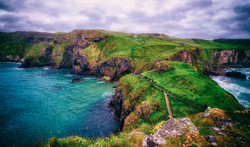 Making our way back to Carrick-a-Rede Ro