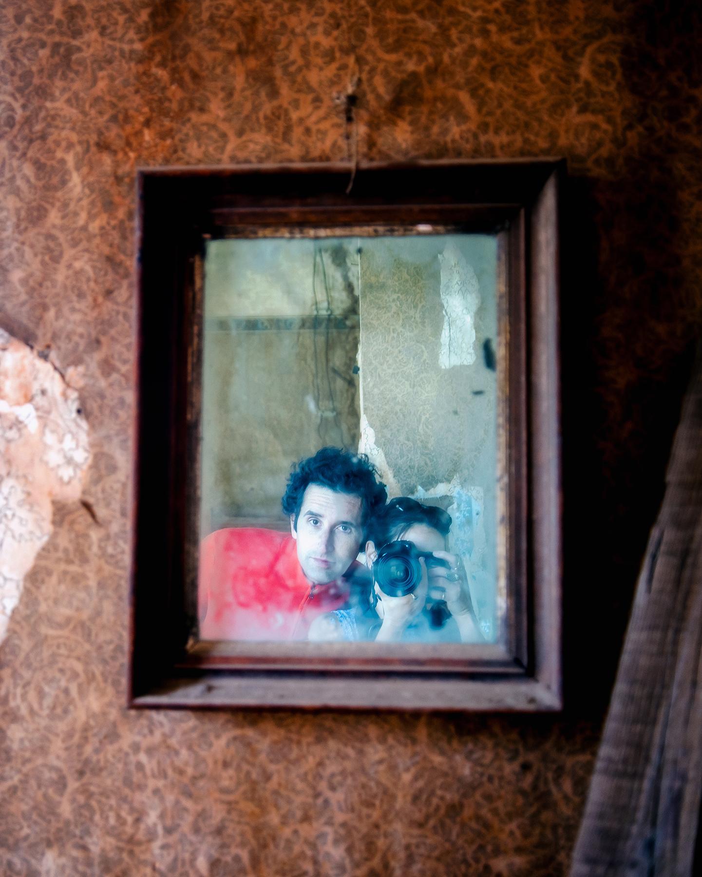 Selfie in a ghost town