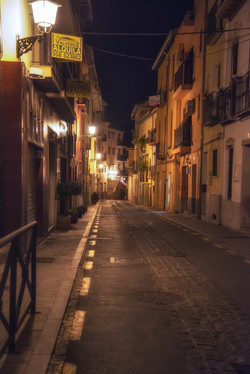 A Granada Street at Night