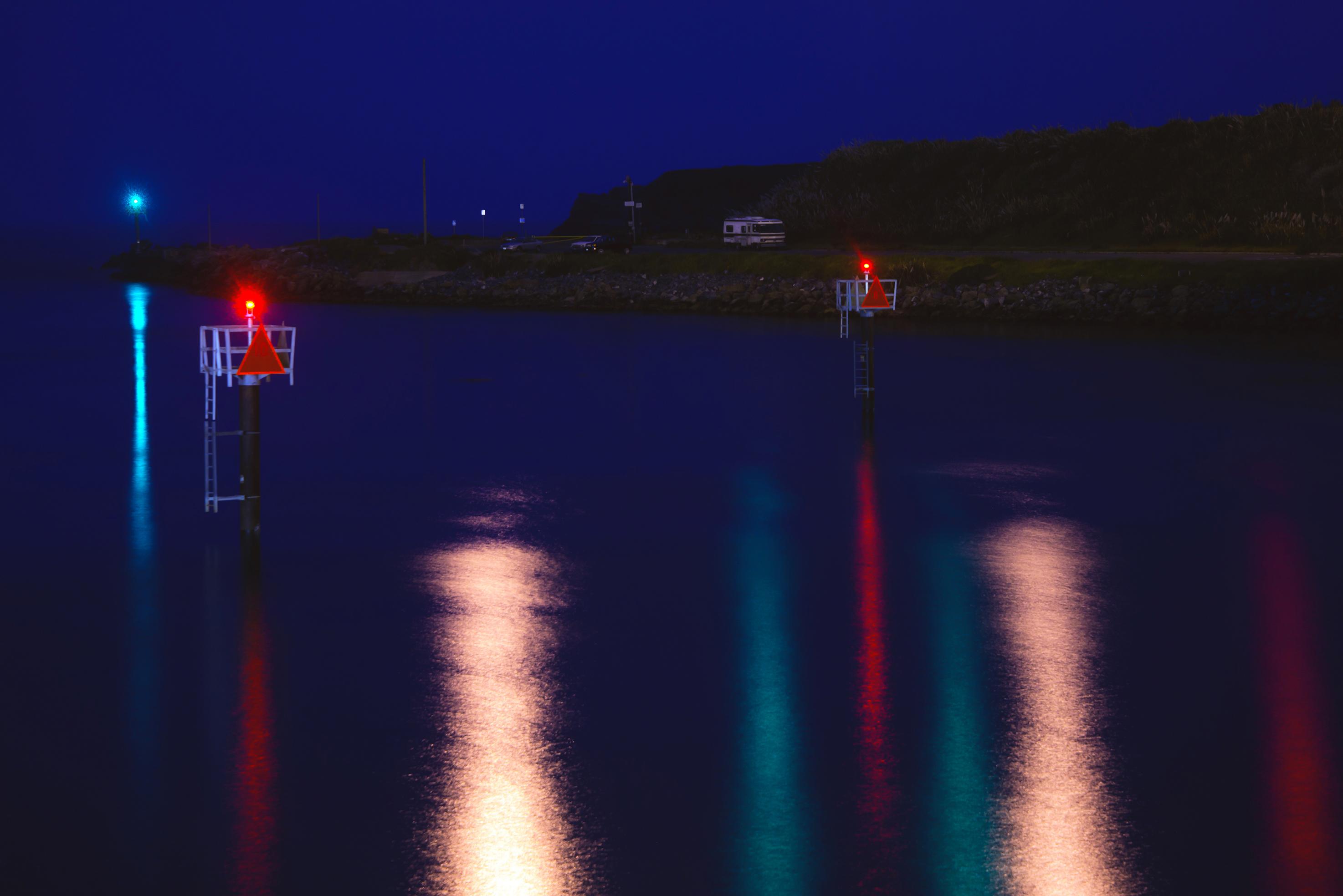 Noyo River at Night