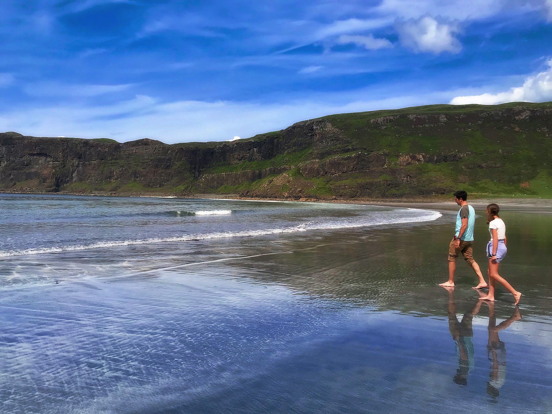 Father & Daughter at Talisker Bay