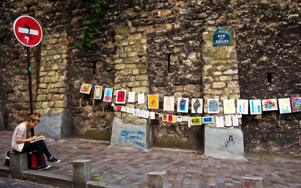Street Artist-Montmartre-Paris