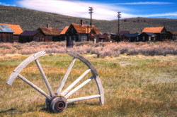 A relic in a ghost town--Bodie