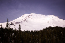 Snow-covered Mt. Shasta in Winter