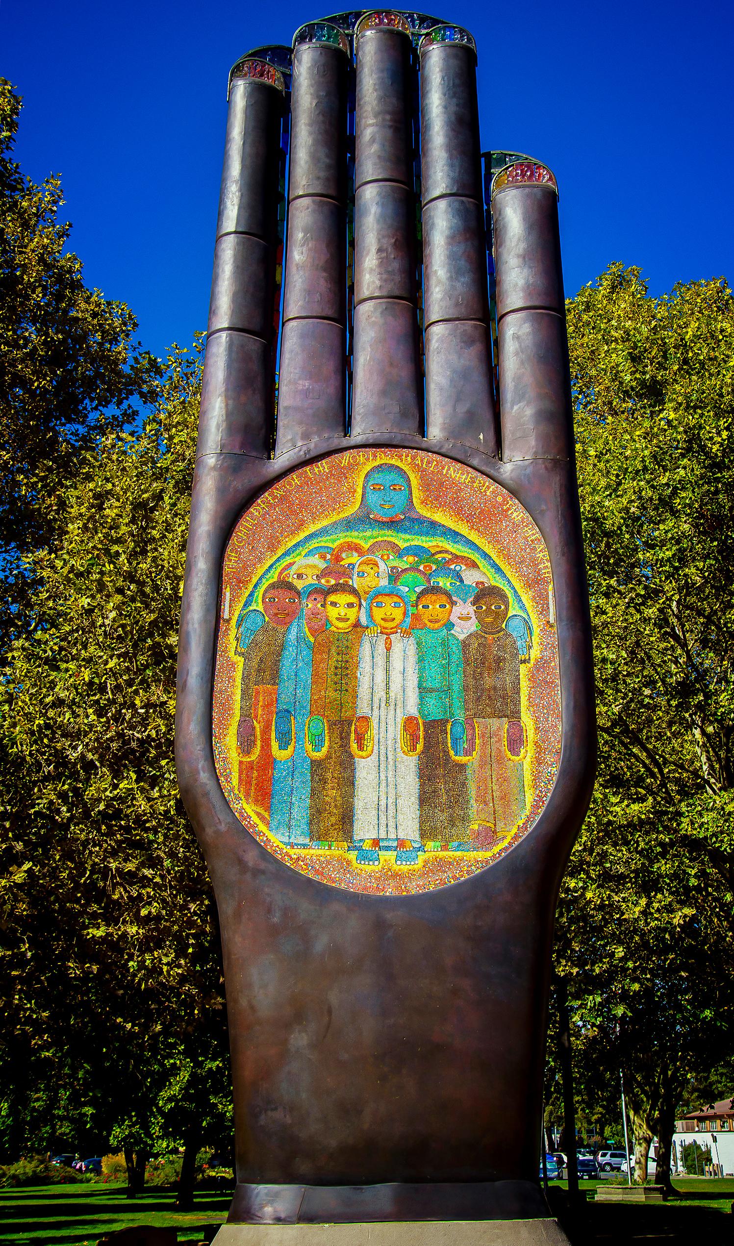 Hand of Peace-Beniamino Bufano-Walnut Cr