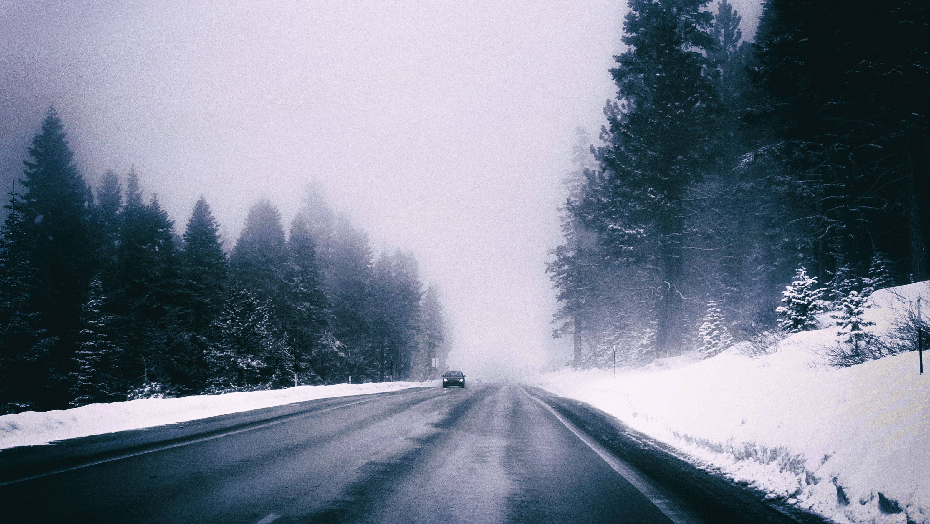 Lonely Winter Drive
