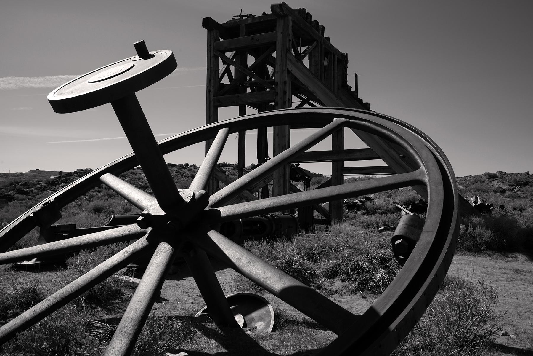 Bodie Mine Head Wheel