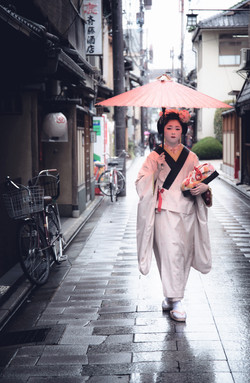 A Geisha in Training-Kyoto Japan